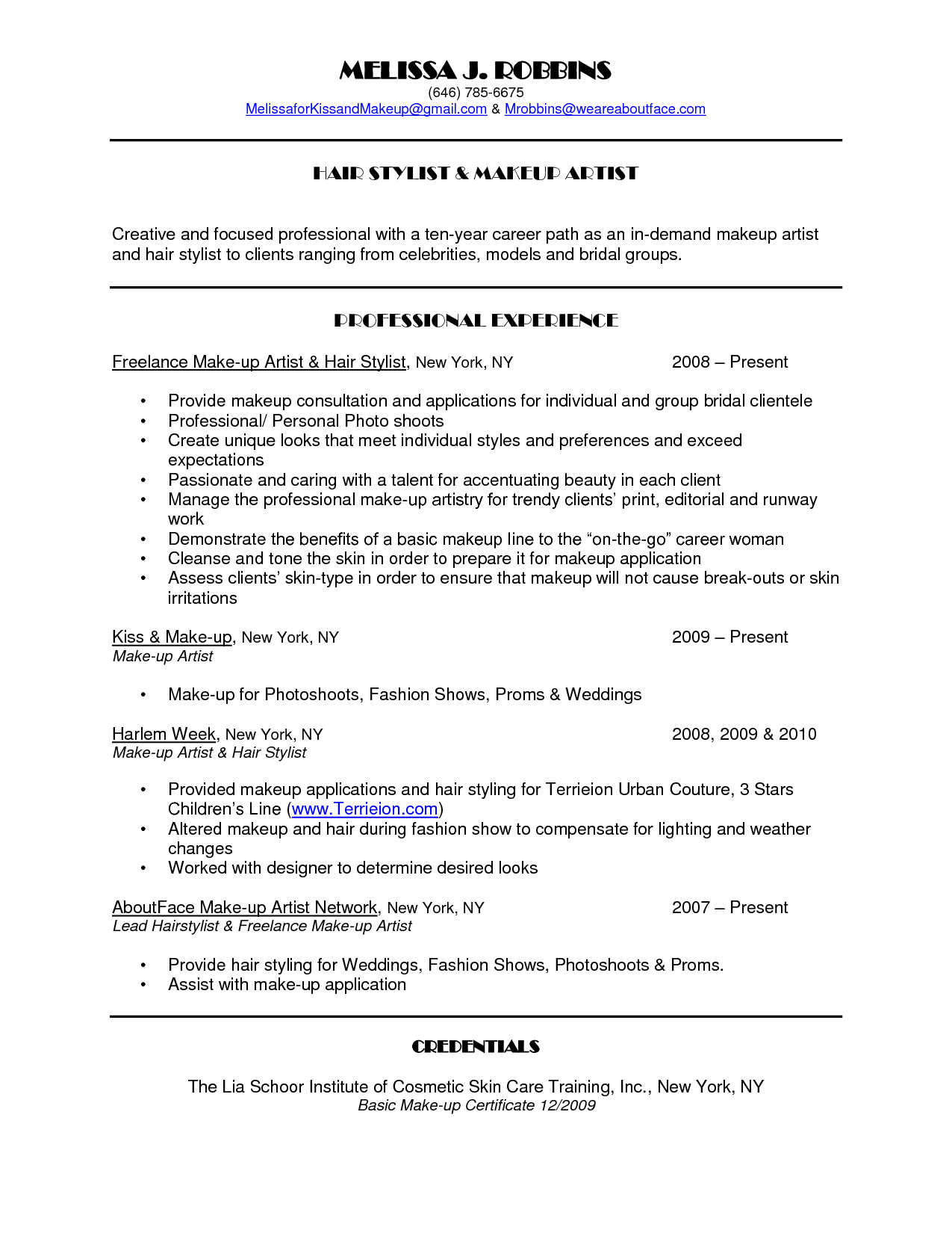 Hair Stylist Resume Template Free Httpwwwresumecareerinfo - Free hair stylist resume templates