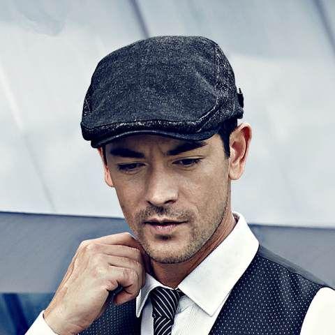 Gentleman flat cap vintage design mens gentleman hats autumn wear ... f5978db4974