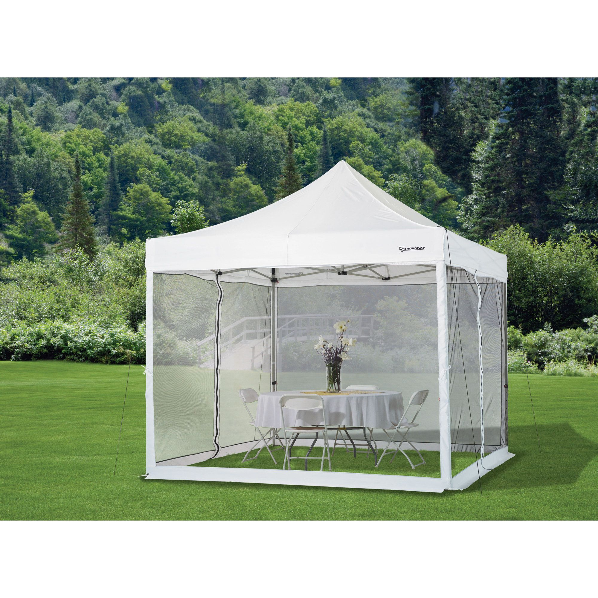 Strongway Pop Up Outdoor Canopy Tent Mesh Curtain 10ft X 10ft In 2020 Canopy Tent Outdoor Canopy Outdoor Canopy Tent