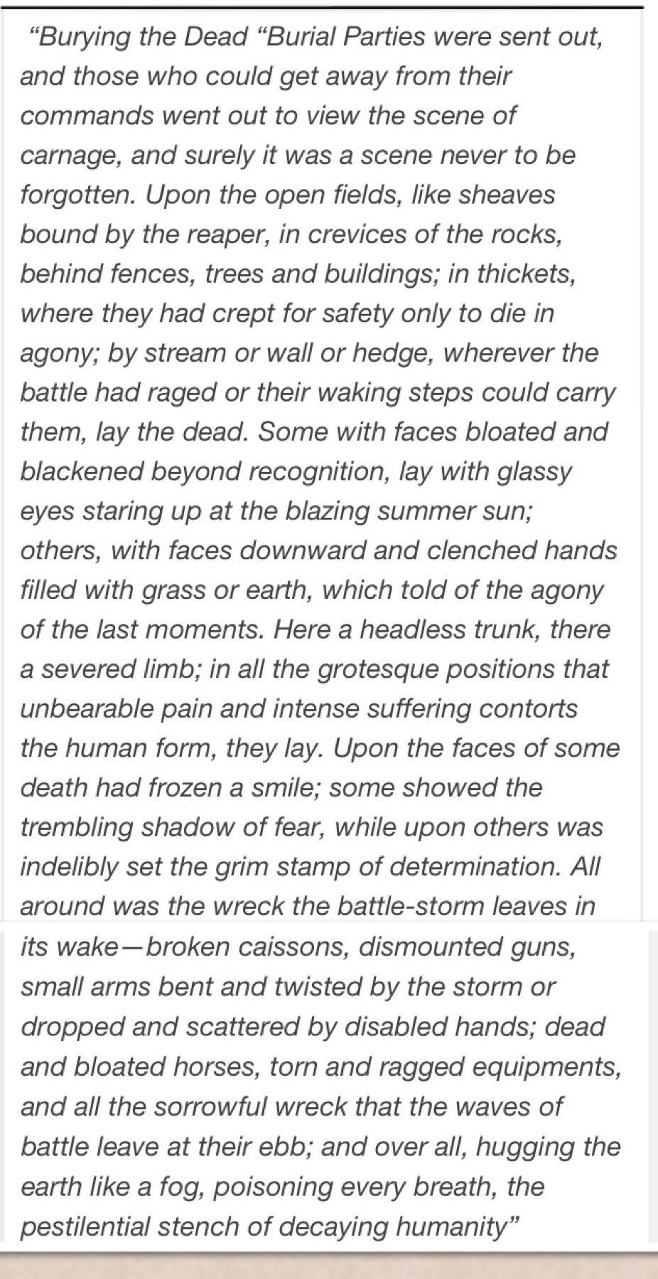 battle of gettysburg thesis statement