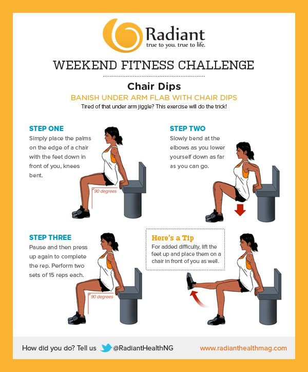 Banish Underarm Flab With Chair Dips Arm Flab Workout For Beginners Workout Challenge