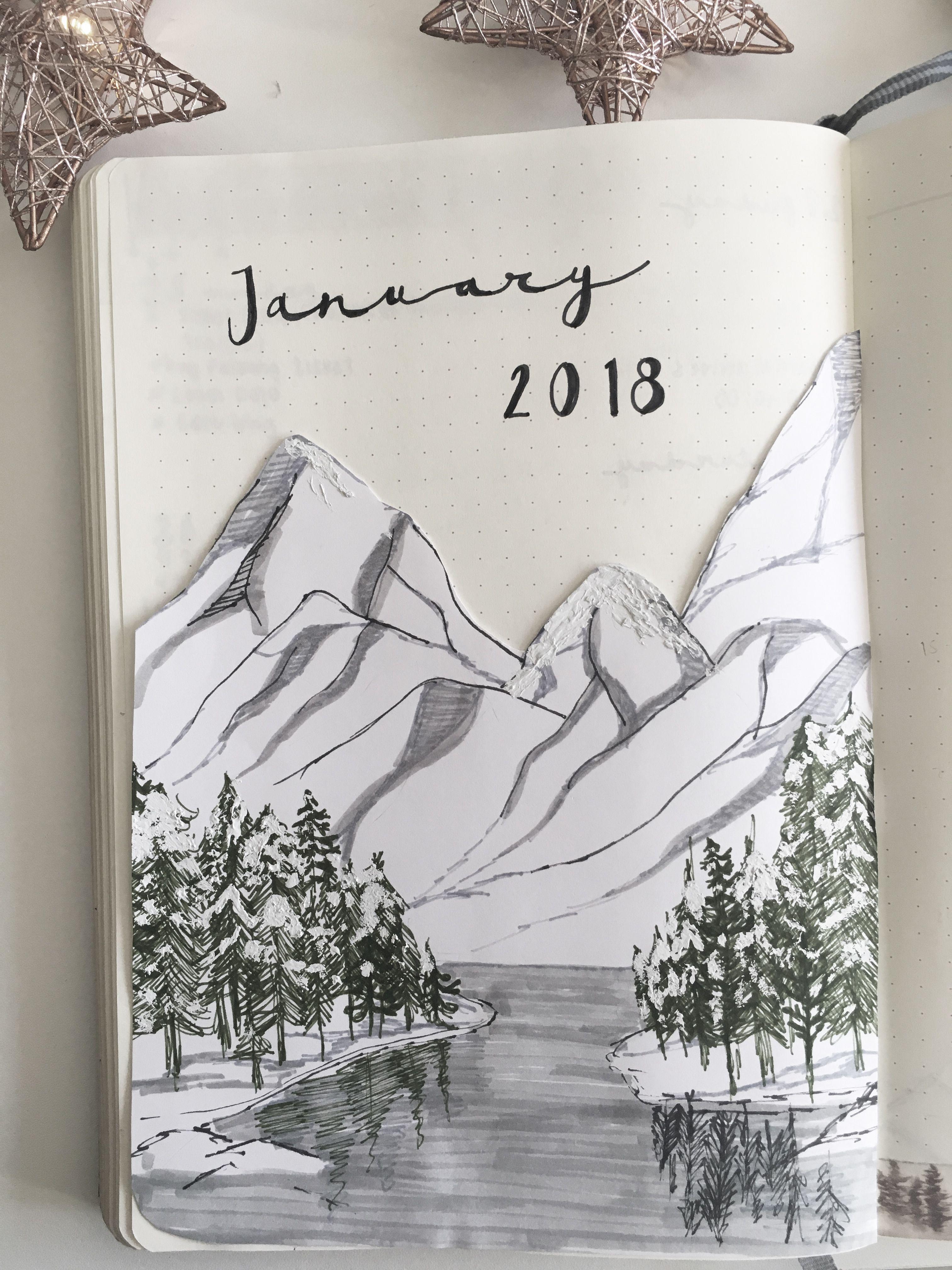 January 2018 Bullet Journal Journaling Pinterest Bullet