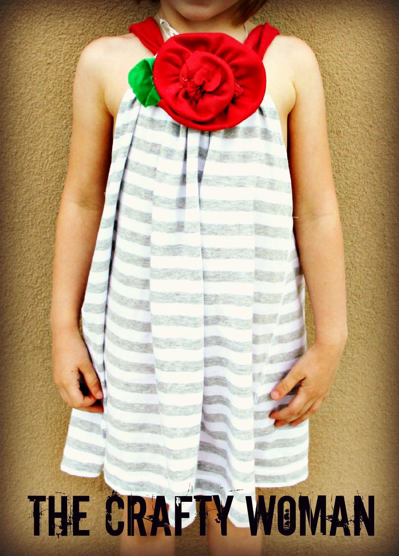 DIY easy sew Rose & Stripes Girls Dress | AdaLee Bryn | Pinterest ...