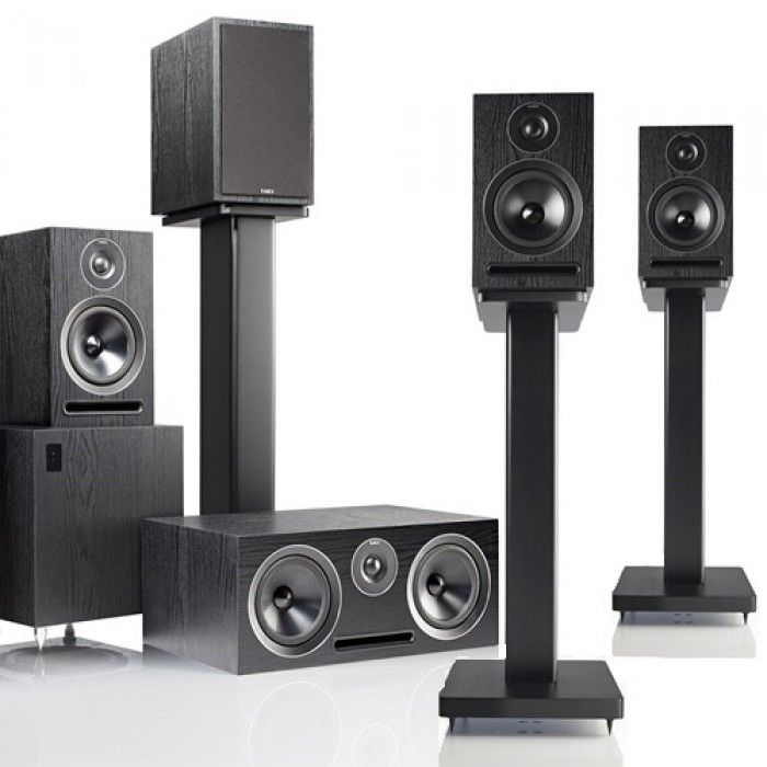 The Acoustic Energy 5101 51 Speaker Package Contains Two Pairs Of 101 Bookshelf Speakers One 107 Centre And 108 Subwoofer