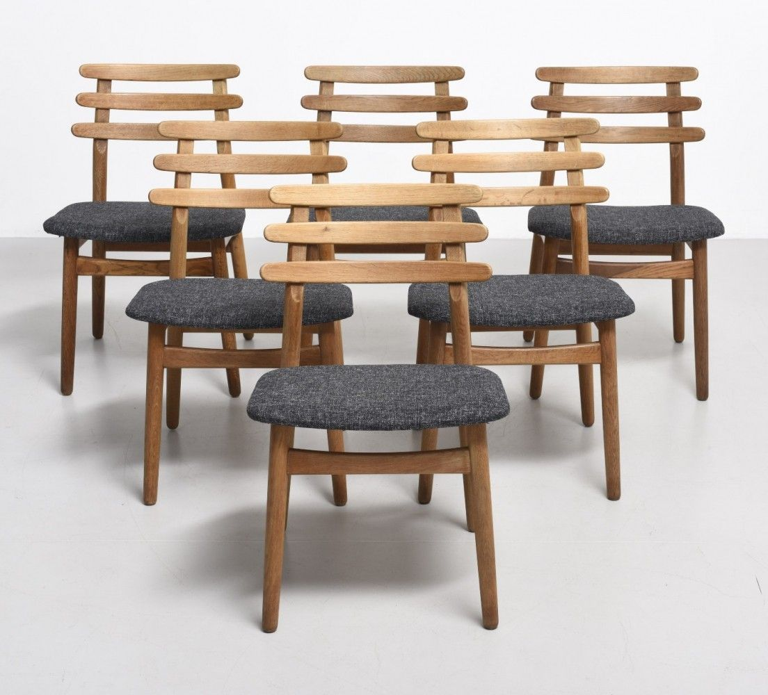 6 Model J48 Dinner Chairs From The Sixties By Poul Volther For Fdb  # Muebles Sixties