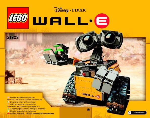 View LEGO instructions for WALL-E set number 21303 to help you build these LEGO …