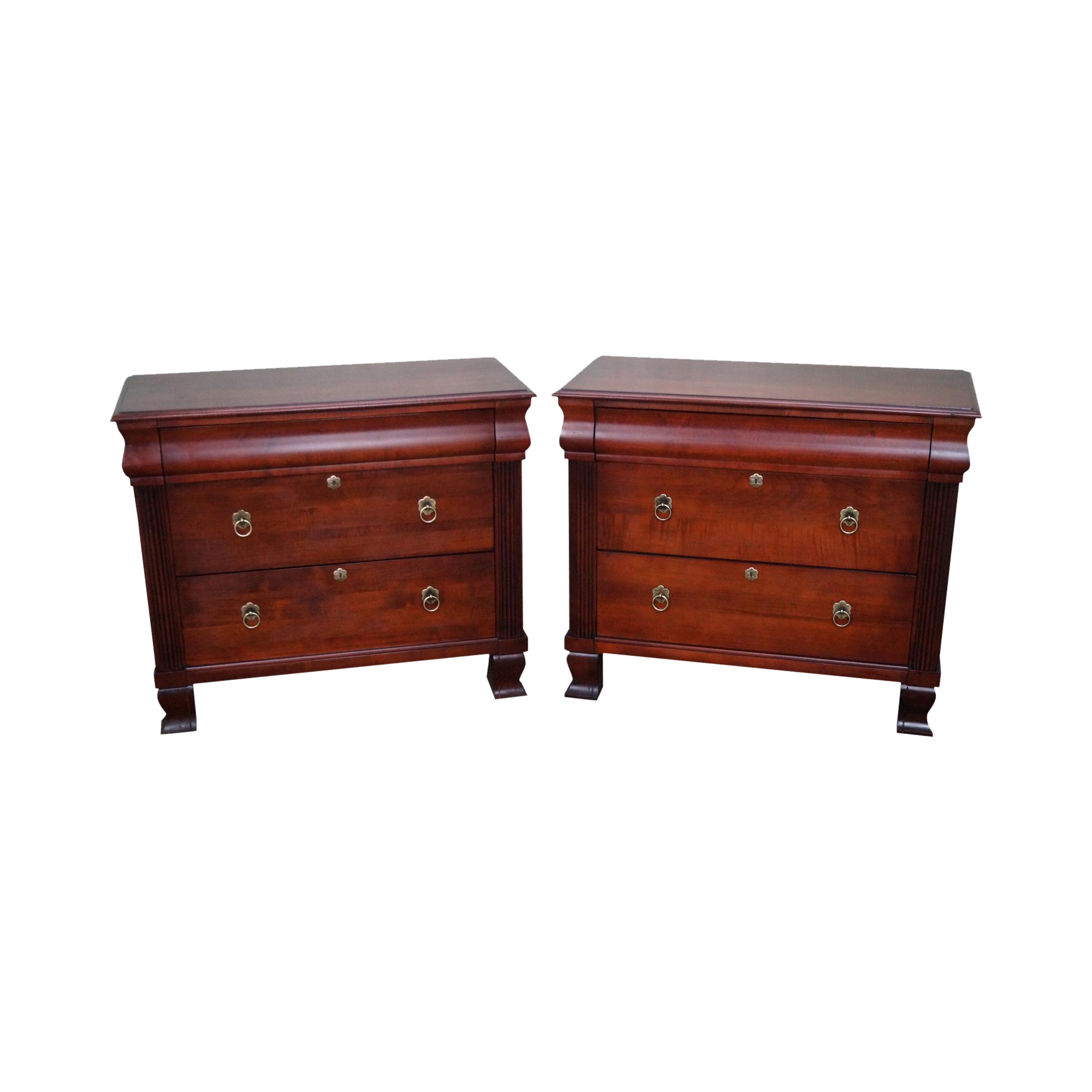 Master Bedroom Ethan Allen British Classics Pair Of Hand Crafted Solid Maple 3 Draw Ethan Allen Furniture Furniture Bedside Table Bedside Tables Nightstands