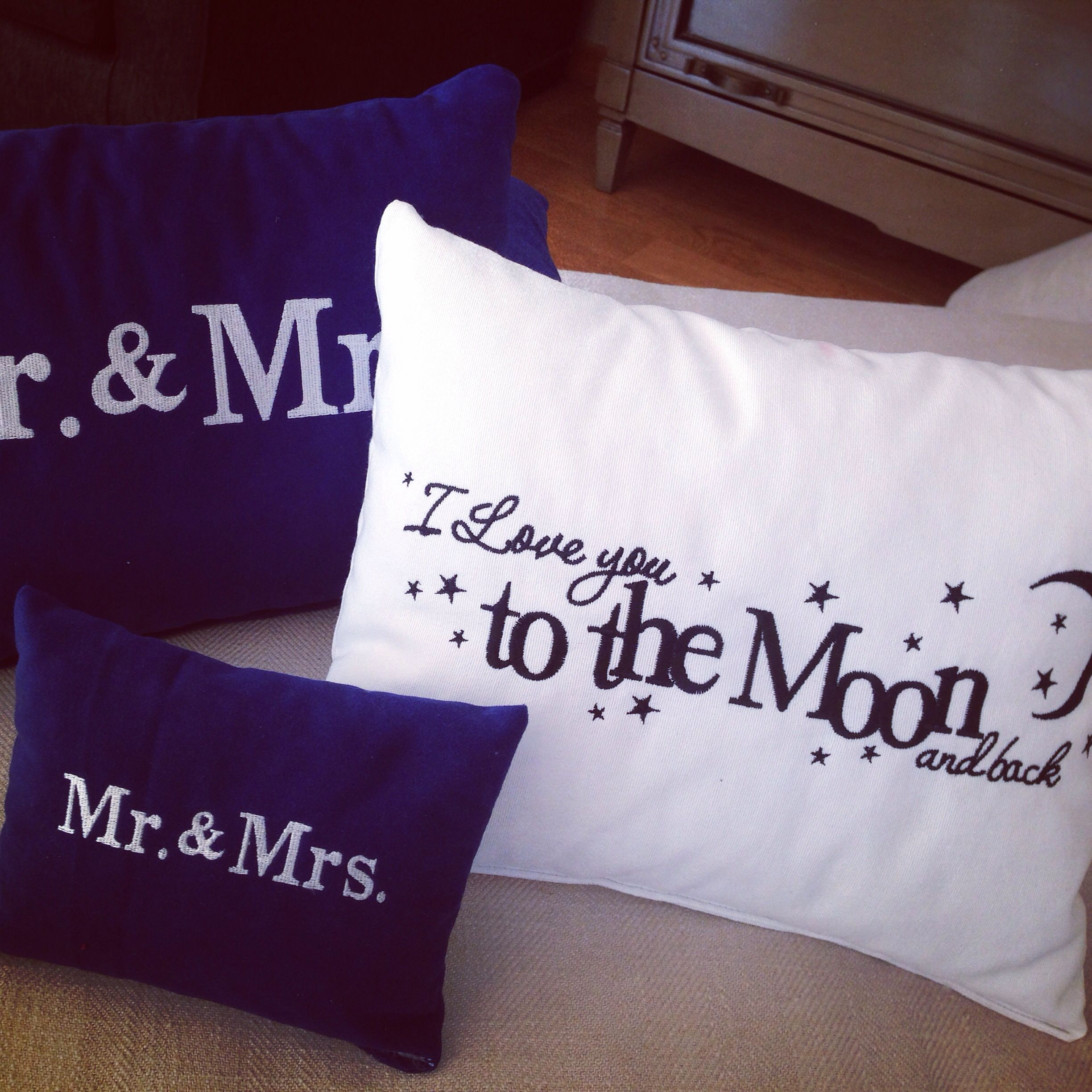 Mr & Mrs .... I love you to the moon and back ...