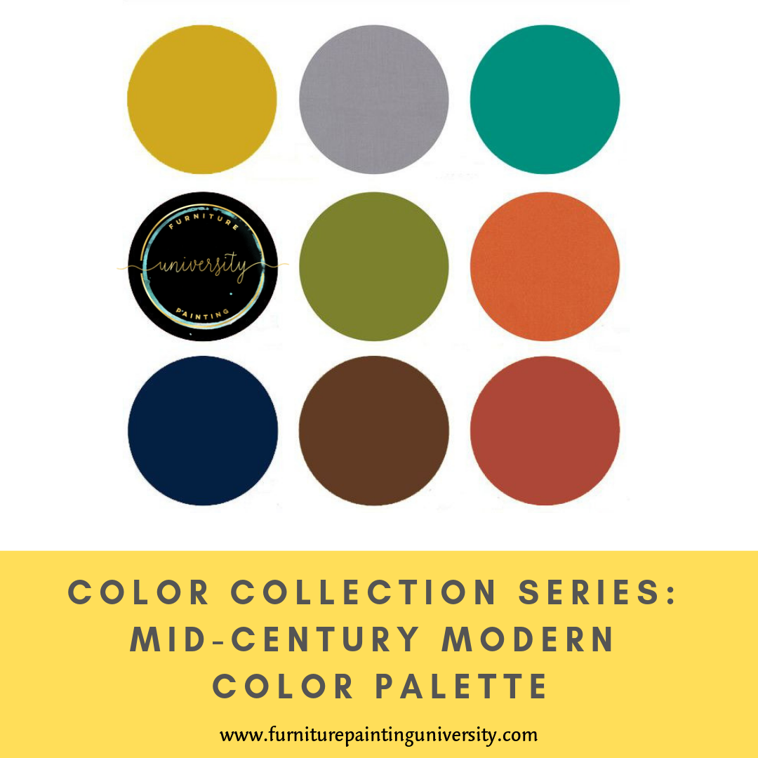 Color Collection Series Mid Century Modern Color Palette Creativiq Modern Color Palette Mid Century Modern Colors Mid Century Modern Furniture Redo