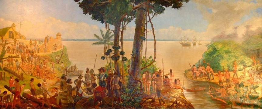 A fundação da cidade de Nossa Senhora de Belém do Grão-Pará, Theodoro Braga, 1908