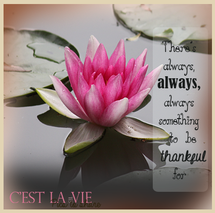 There's always, always something to be thankful for