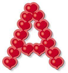 Oh my Alfabetos!: Alfabeto hecho de corazones.