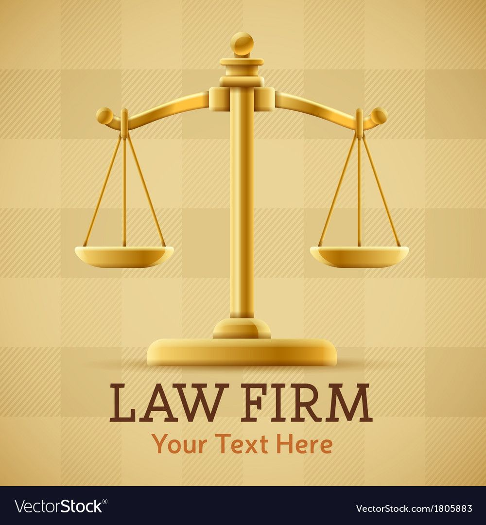 Law firm justice scale background royalty free vector