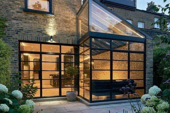 Extension de maison en verrière Atelier de la verrière #basileek