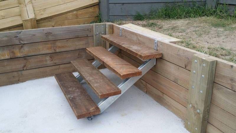 Metal Stair Stringer 8 Tread Pair Galvanised Building Materials | 8 Step Wood Stair Stringer | Cedar Tone | Menards | Deck | Framing Square | Precut Prebuilt