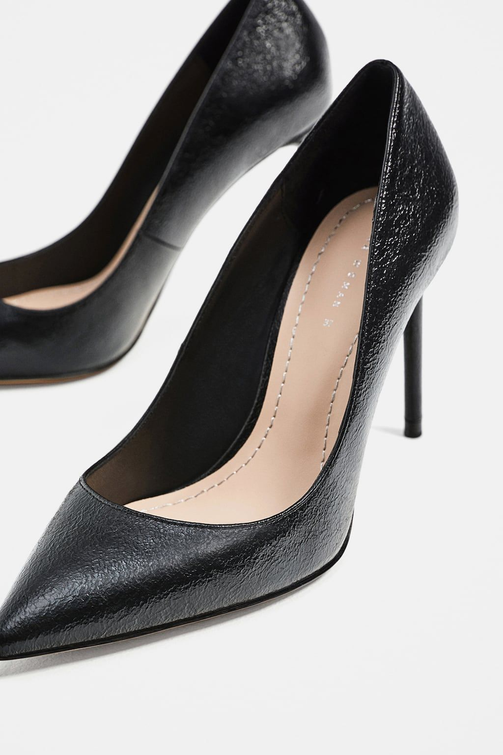 9f62af5b1a Image 5 of BLACK METALLIC PUMPS from Zara | Ahhh...SHOES! | Metallic ...