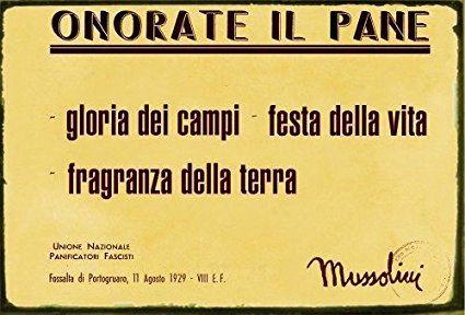 Targa Tabella In Metallo Frasi Famose Benito Mussolini Da