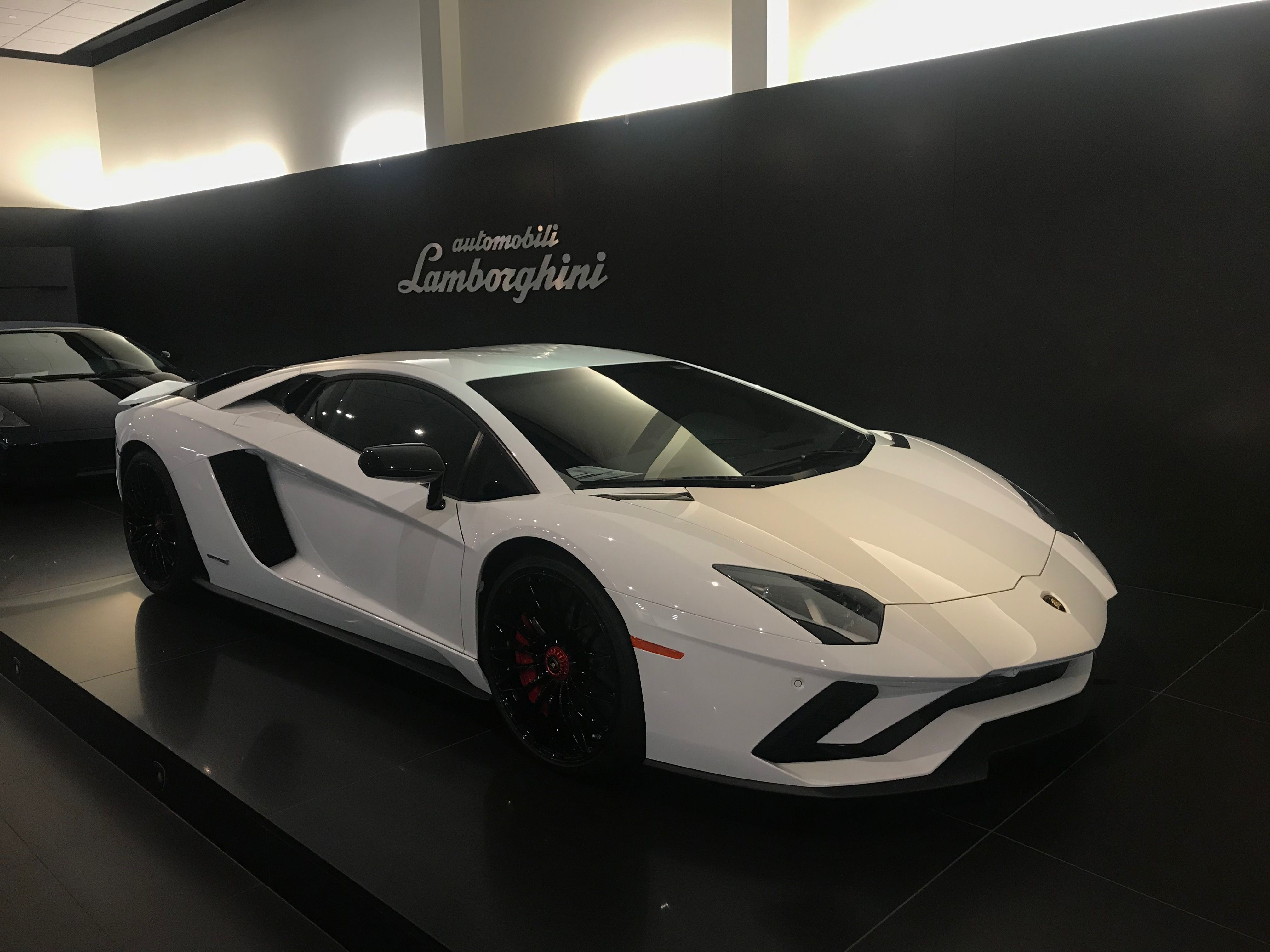 Lamborghini Aventador S Painted In Bianco Isis Photo Taken By Me