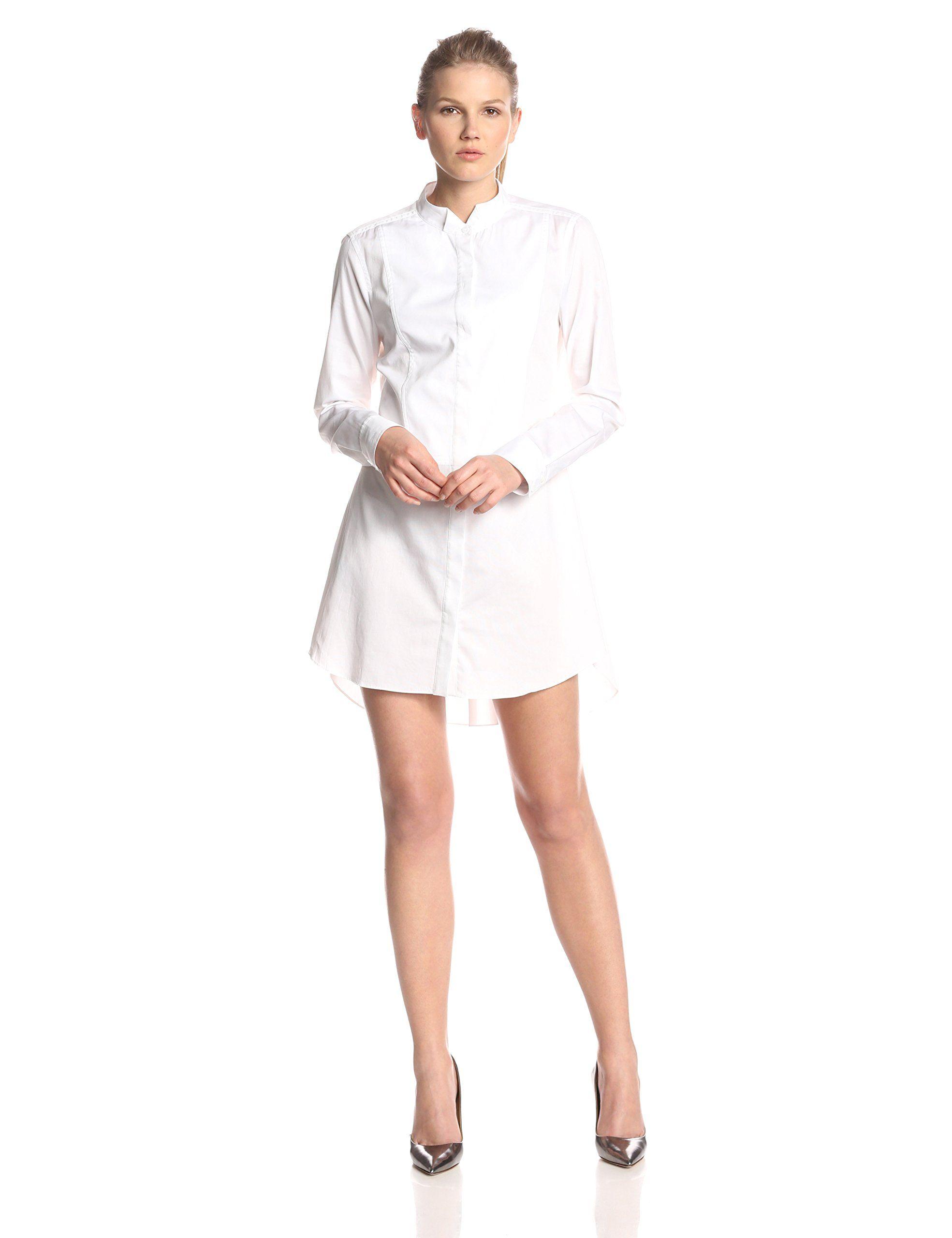5c7226d69f Amazon.com  BCBGMAXAZRIA Women s Casie Tuxedo-Shirt Dress