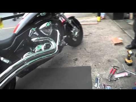 Suzuki M109R M1800R VZR1800 Hardkrome Dual Radius exhausts