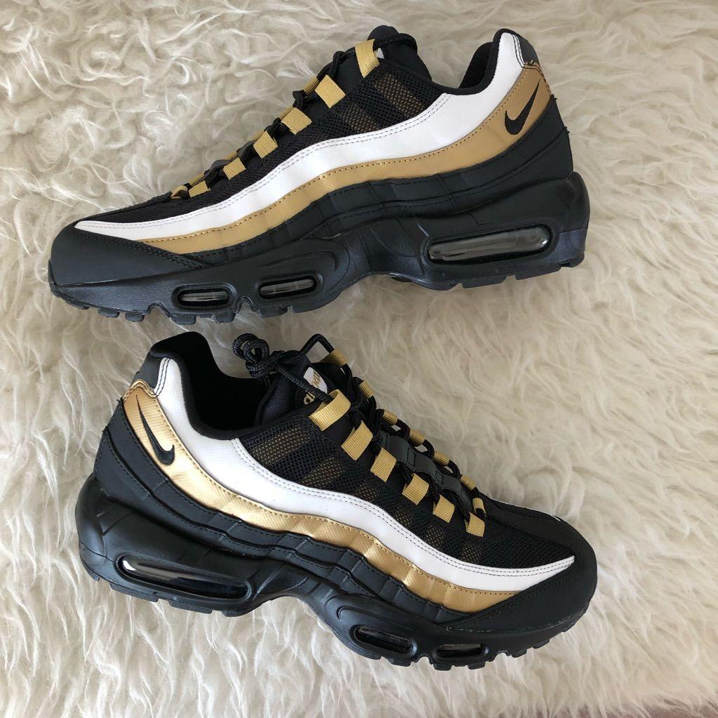 Nike Shoes Nike Air Max 95 Og Mens Size 9 5 Black Gold Color