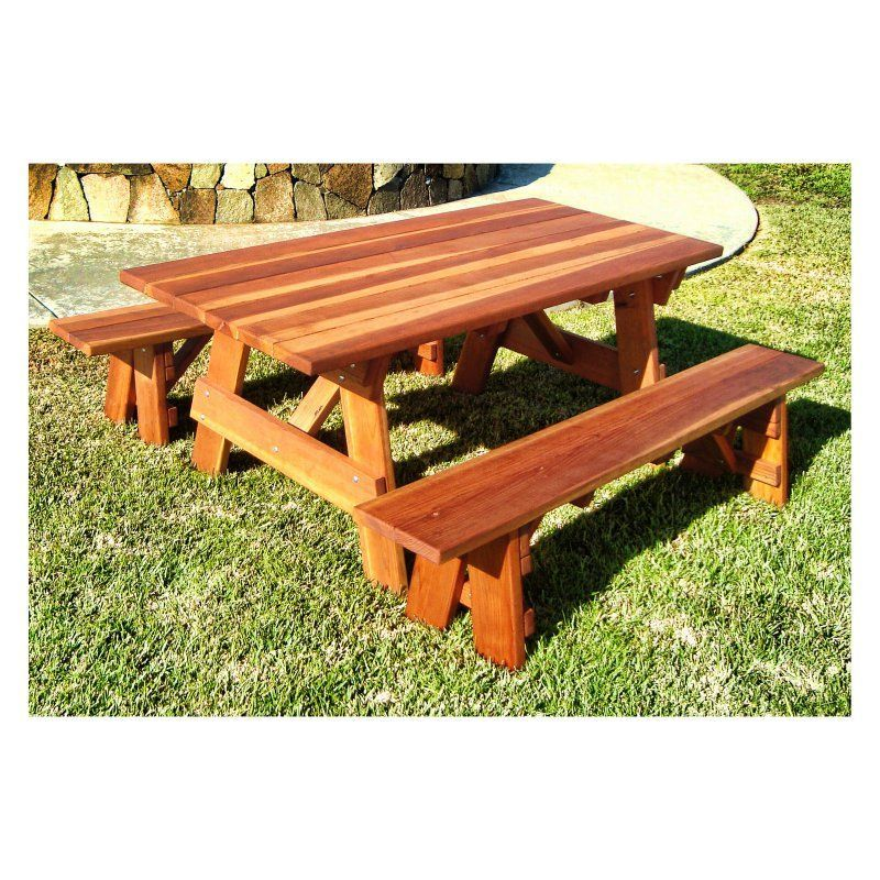 Fabulous Best Redwood Outdoor Farmers Picnic Table And Benches Andrewgaddart Wooden Chair Designs For Living Room Andrewgaddartcom