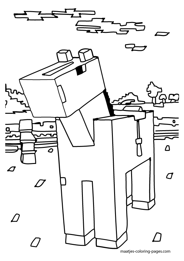 Stampylongnose Minecraft Coloring Crokky Coloring Pages Avery