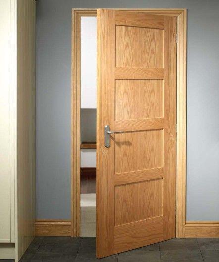 Oak Shaker 4 Panel Door Doors Interior Modern 4 Panel Doors Oak Doors