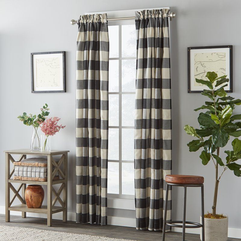 Better Homes And Gardens Checked Plaid Curtain Panel