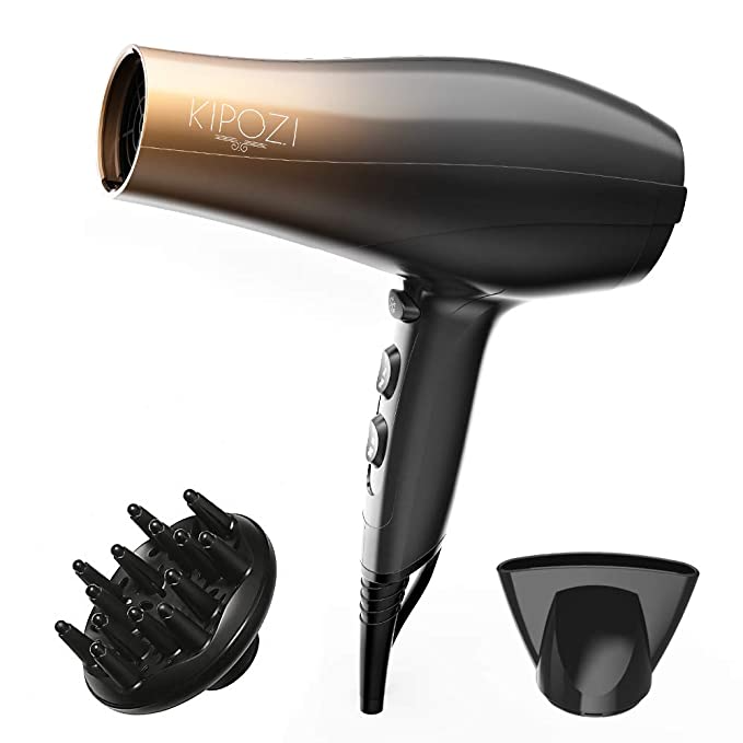 Amazon Com Kipozi 1875w Professional Hair Dryer Nano Ionic Fast Dry Hair Blow Dryer With Diffuser And Concentrator Blow Dryer Diffuser Hair Dryer Hair Blower