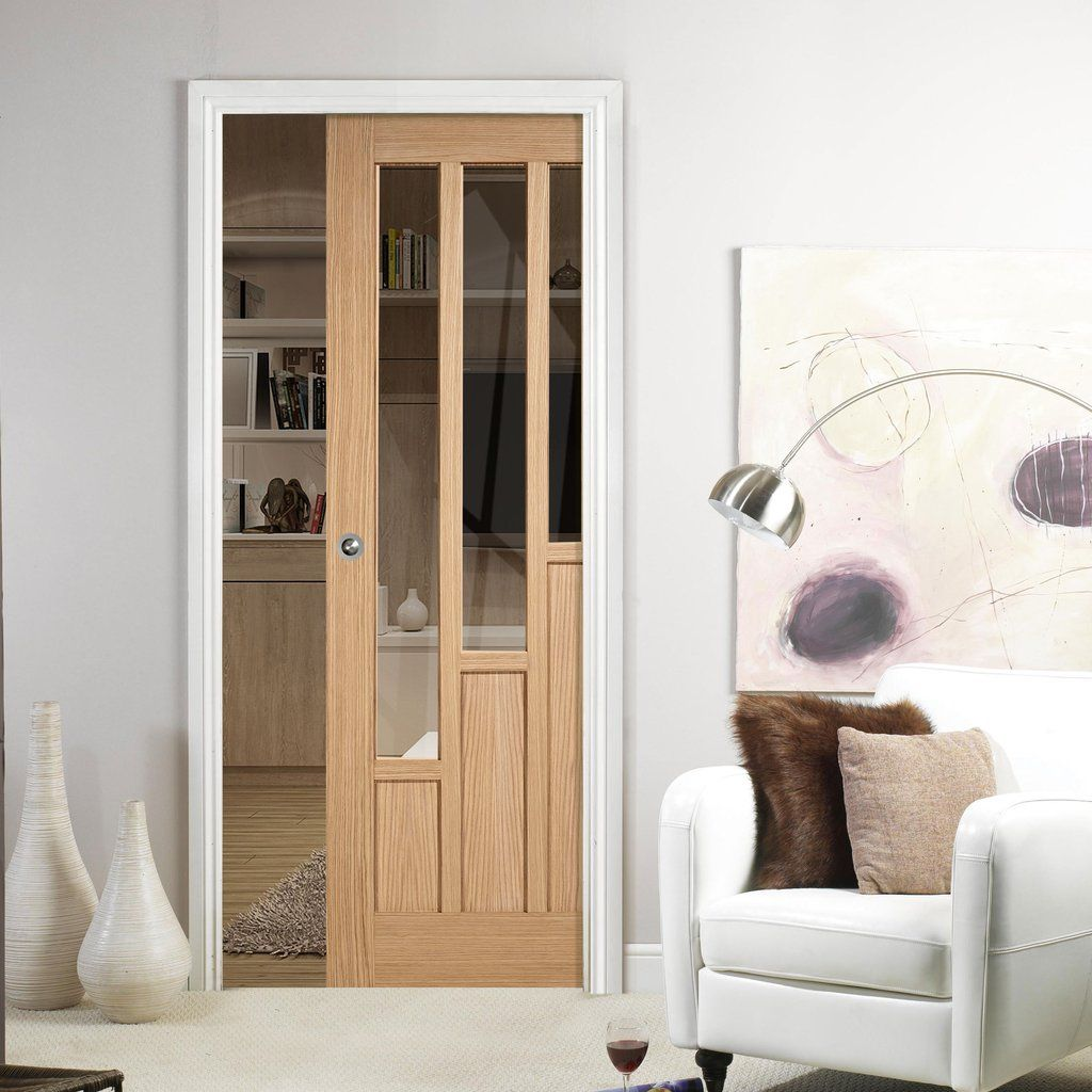 Single pocket coventry contemporary oak door with clear safety single pocket coventry contemporary oak door with clear safety glass lpddoor slidingdoor planetlyrics Gallery