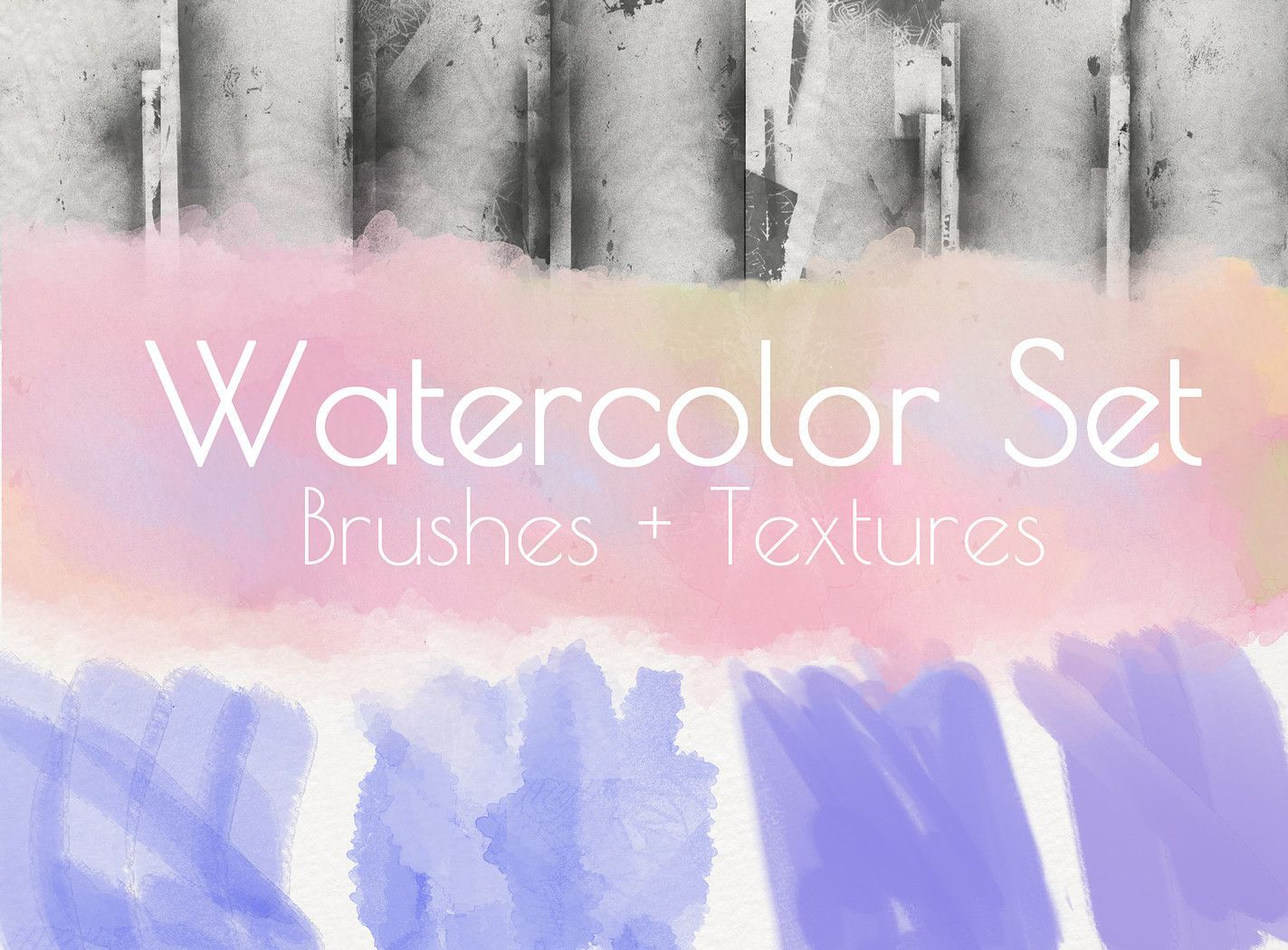 Watercolour Brushes And Textures For Photoshop Http Cbr Sh