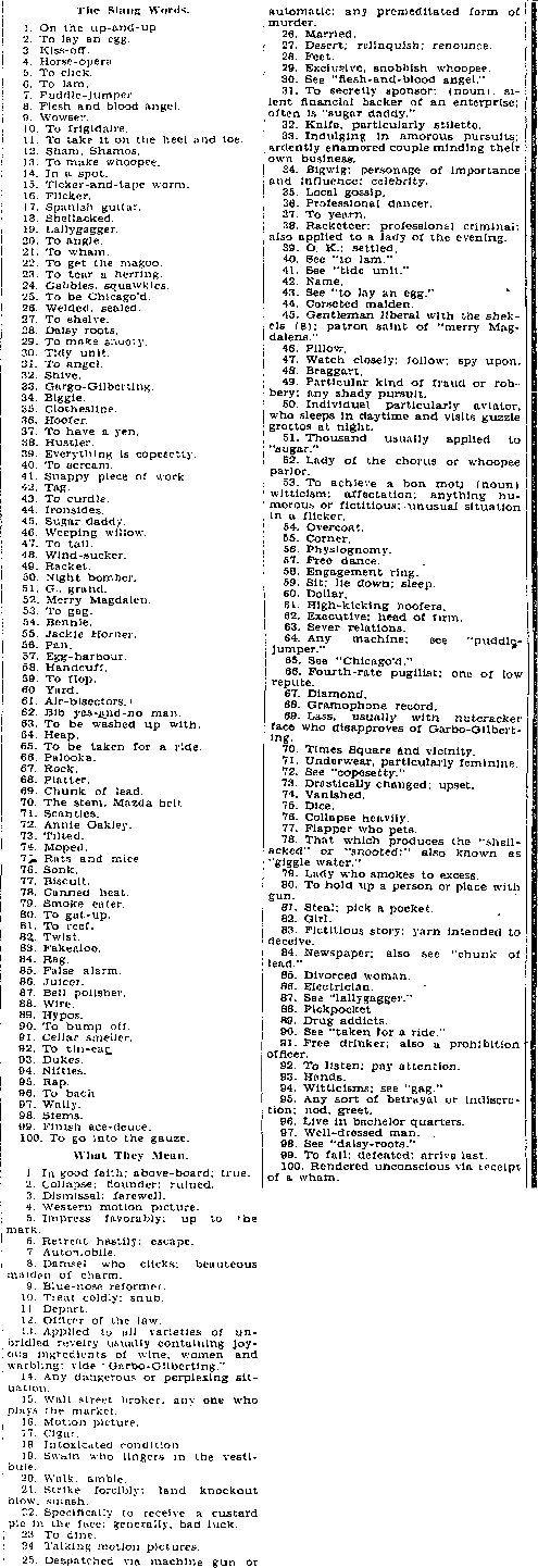 OMG, 1920s Slang: Ho Hum, Blind Dates, Giggle Water and ...
