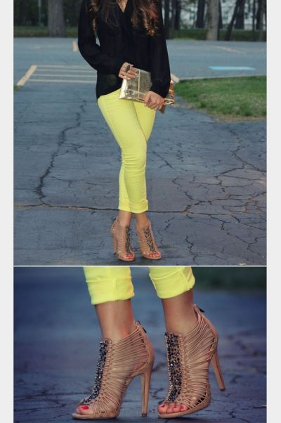 love Yellow pant! with Gorgeous shoe