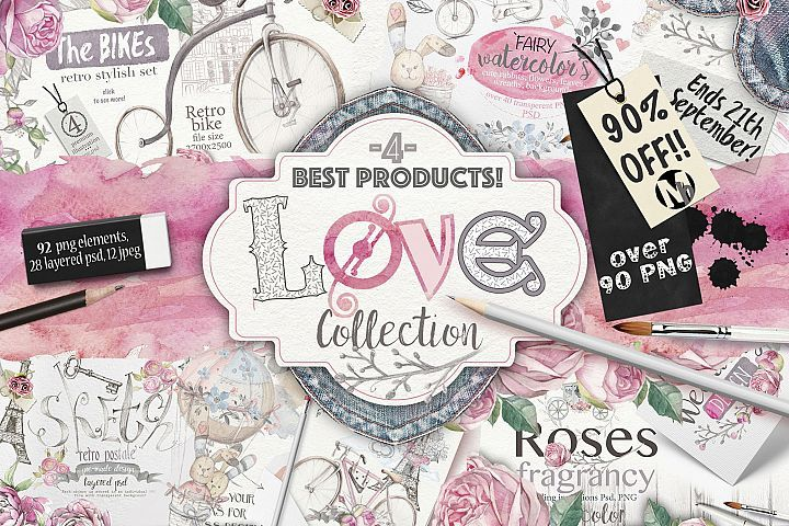 Download 90 Off Love Collection 90 Png Elements 7367 Illustrations Design Bundles Graphic Design Resources Design Bundles Clip Art