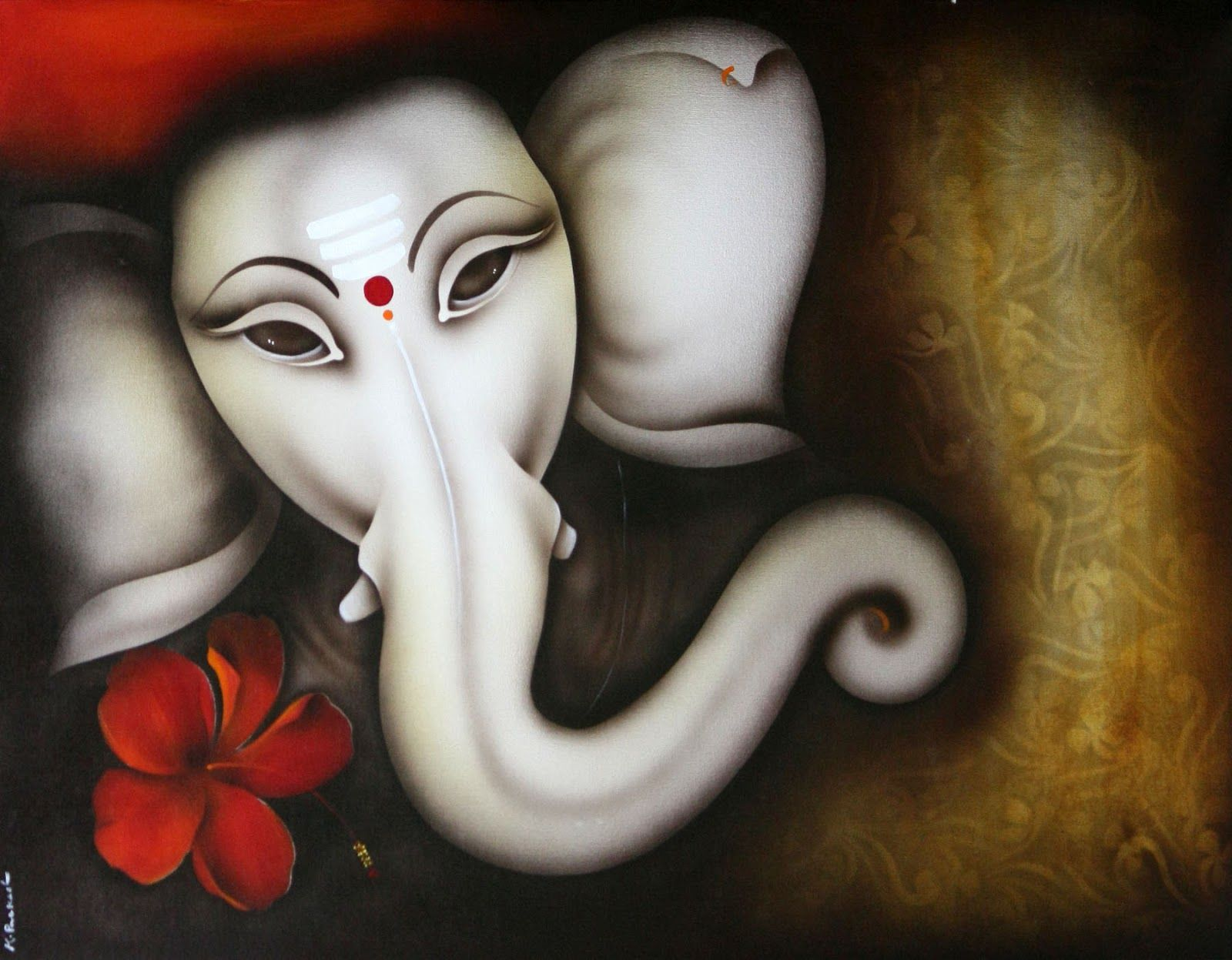 abstract ganesha paintings all the gallery you need sri ganesha painting