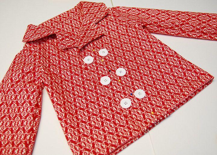 kostenloses Schnittmuster für ein Pyjama-Oberteil 4T von ...