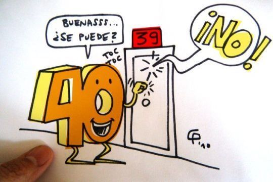 Imágenes Con Frases Sobre Los 40 Años Humor Pinterest Happy