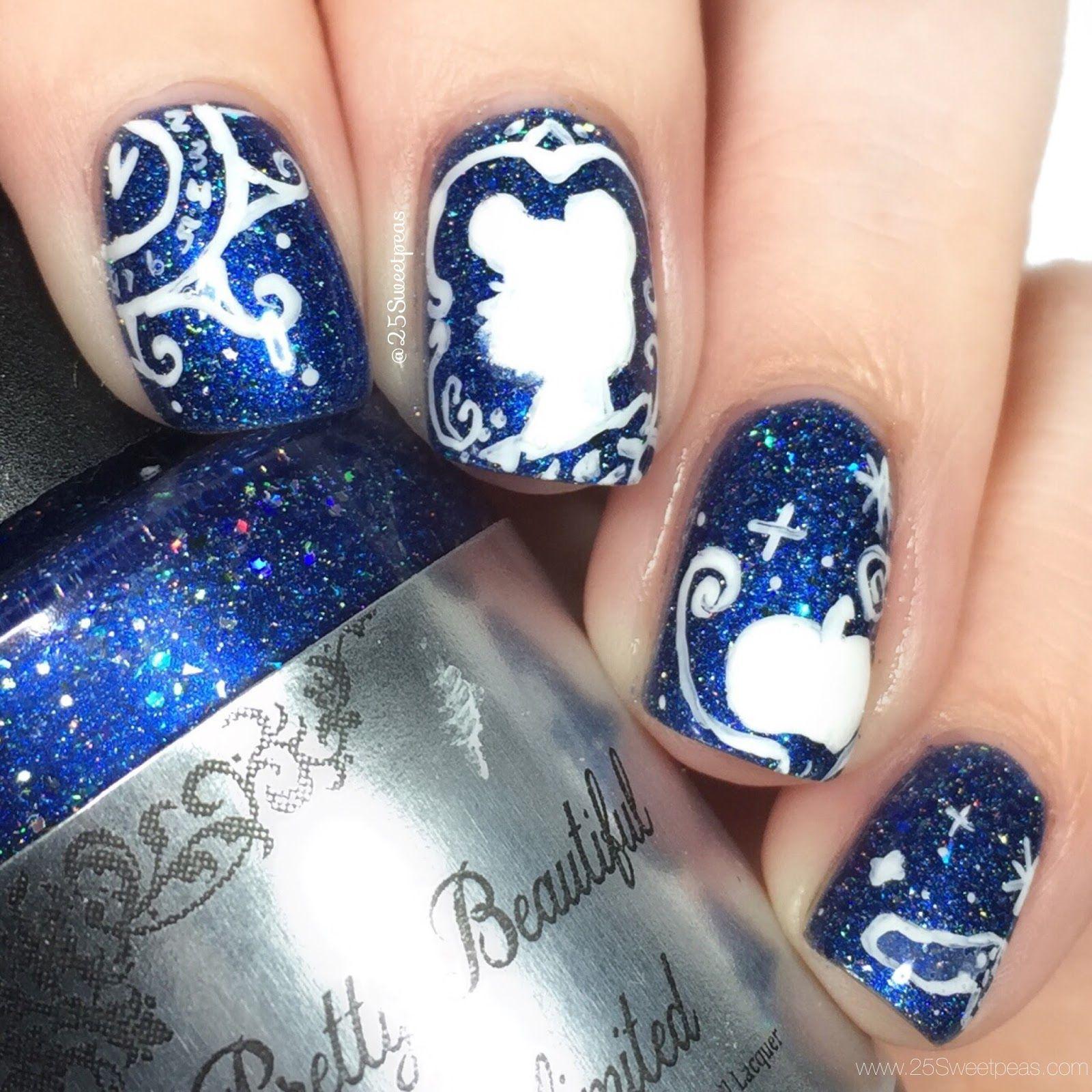 Costume Nail Art Pinterest Cinderella Nails Disney Nails And