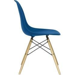 Designer furniture -  Eames Plastic Side Chair Dsw with plastic glides navy blue maple VitraVitra  - #cutehomedecorations #designer #diyHousedesign #diyInteriordesign #furniture #Housestyles #simplehousediy