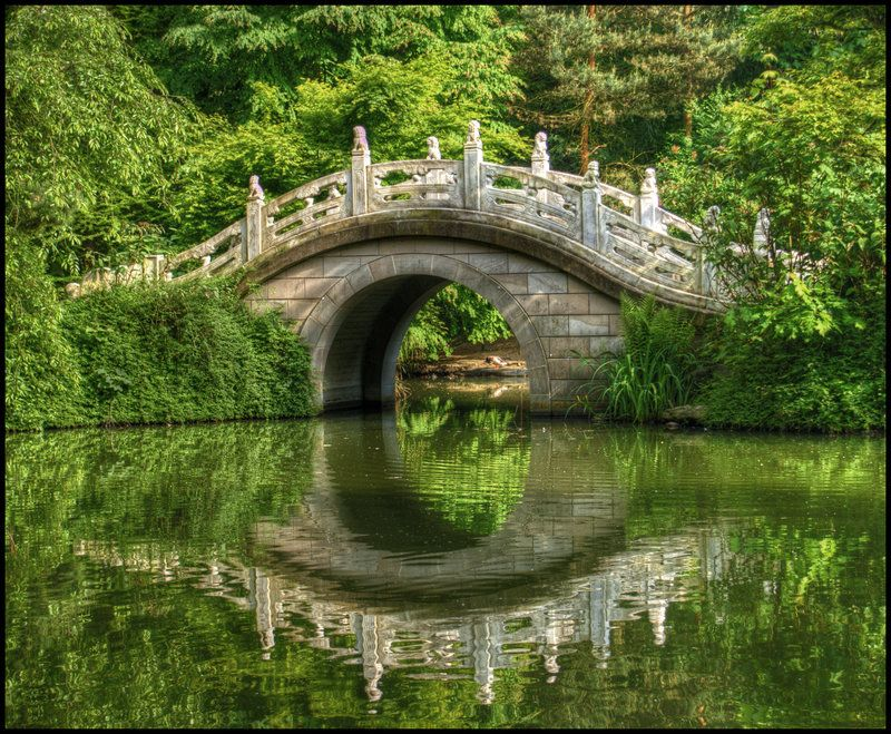 Japanese Bridge by jayvoh Japanese garden Pinterest Japanese - chinesischer garten brucke