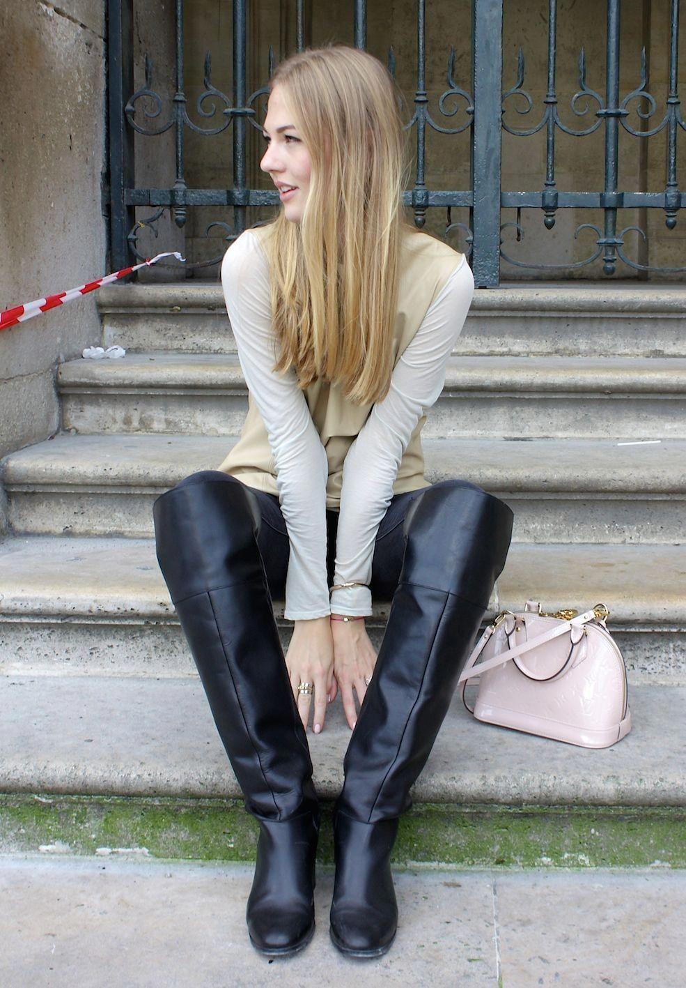 Zara Shoes | Zara Black Otk Over Knee Thigh Boots High Heel