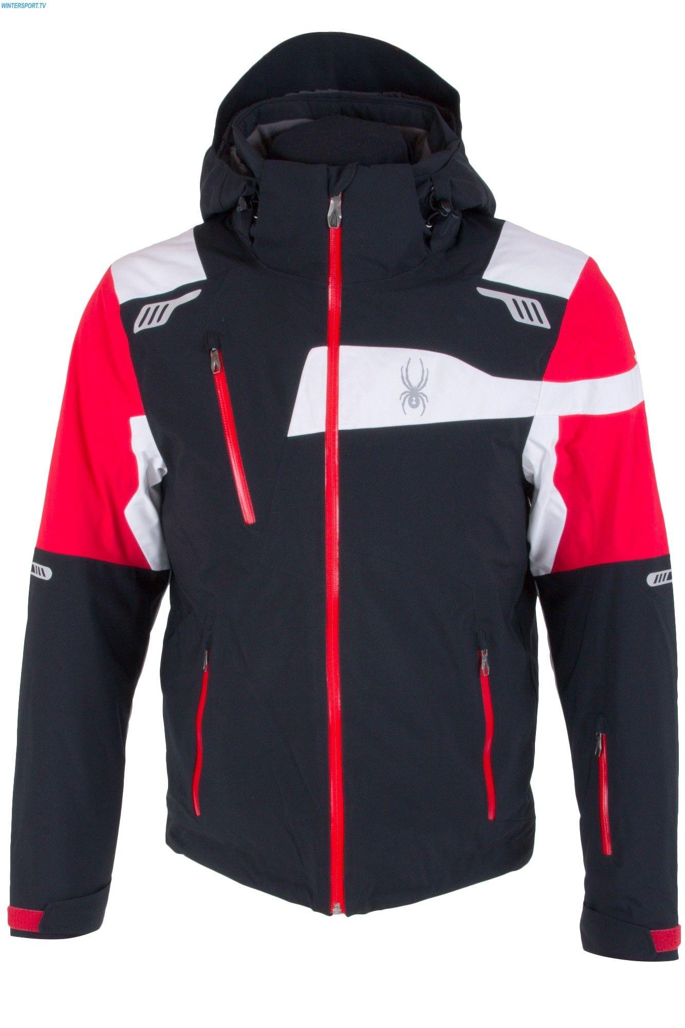 Spyder Black WhiteRot Titan Schwarz Jacket Und Men Red A35RcLS4jq