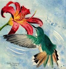 Resultado de imagen para hummingbird painting