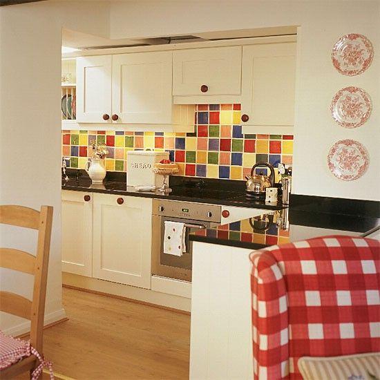 Multi Coloured Tiles Kitchens. Love The Multicolored Tile Back Splash