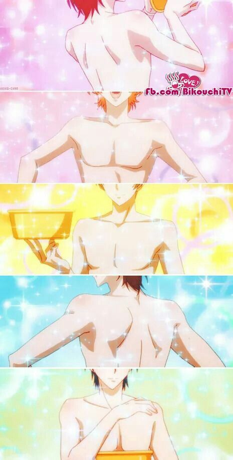 Magical anime boys and their sparkling baths. - Binan Koukou Chikyuu Bouei-bu LOVE!