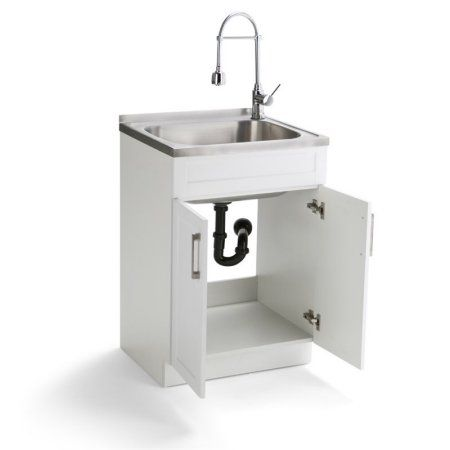 Home Improvement Stainless Steel Sinks Laundry Cabinets Sink