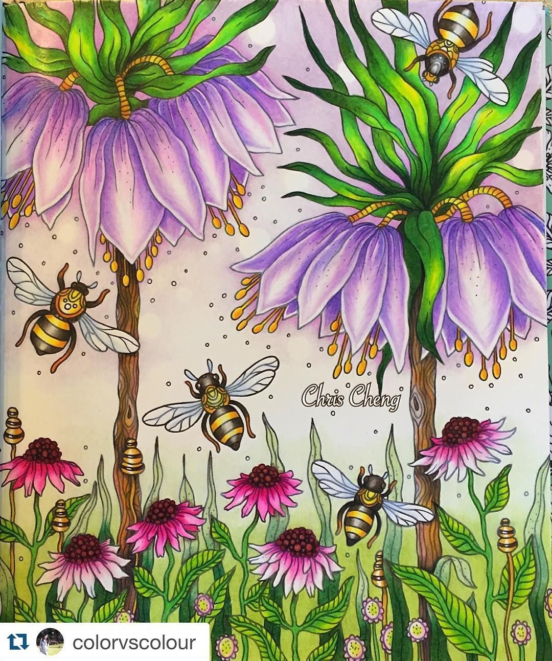 Summer garden coloring pages - Love This Bright And Colorful Summer Garden Dont You Its Colored By Colorvscolour If You Want To Get More Inspiration For Your Own Coloring Take