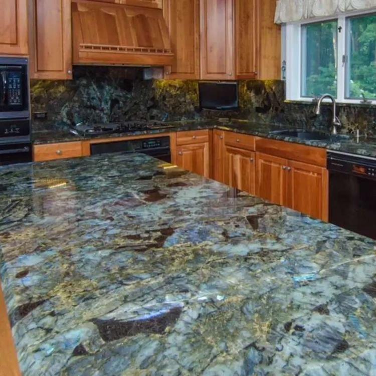 Jade Blue Labradorite Onyx Big Slab Kitchen Countertops Granite