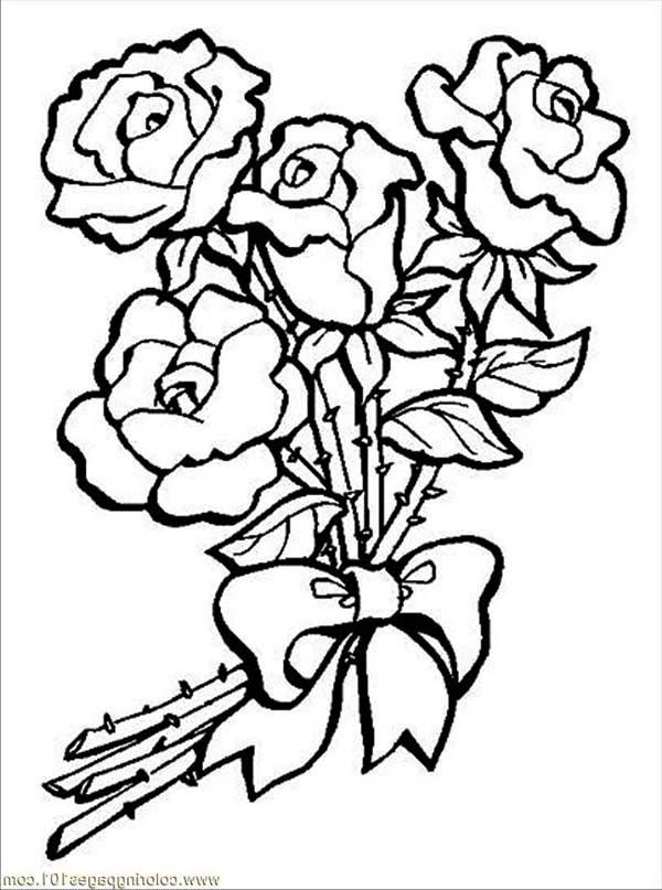 Roses Coloring Pages | Coloring Pages Station | Happy Rose Month ...